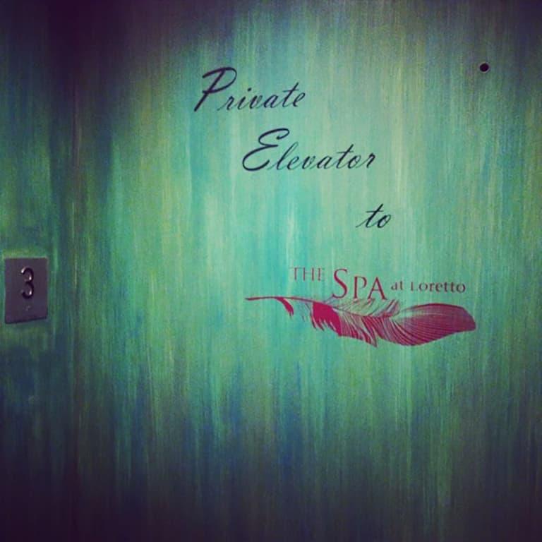 The Spa at Loretto Private Elevator to the Spa – via Spa Travel Gal