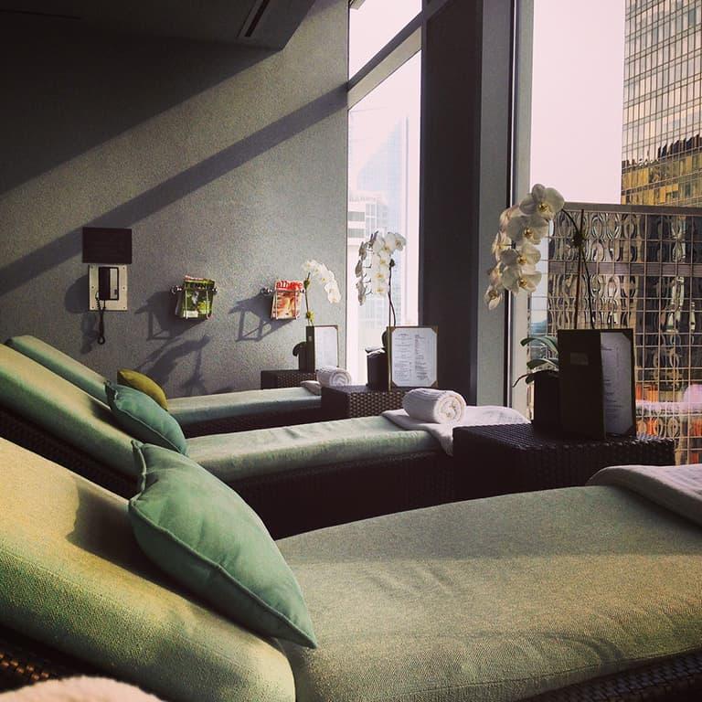 The Ritz-Carlton Charlotte Spa Aqua Lounge – via Spa Travel Gal
