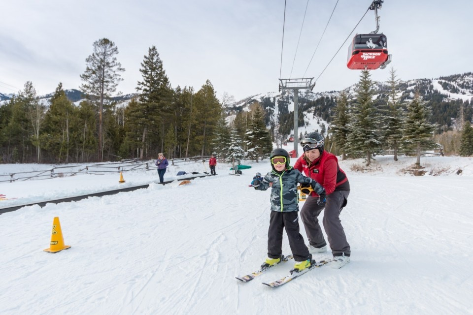 Learning to ski at Jackson Hole Mountain Resort