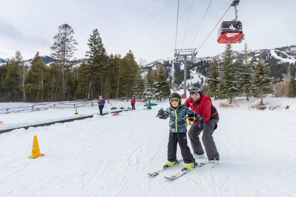 Learning to ski at Jackson Hole Mountain Resort