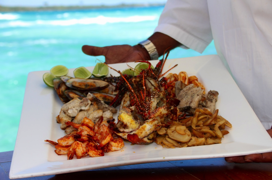 Seafood platter in Boca Chica Beach, Dominican Republic