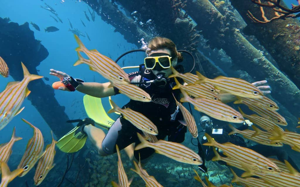 Bonaire-scuba-angie-away