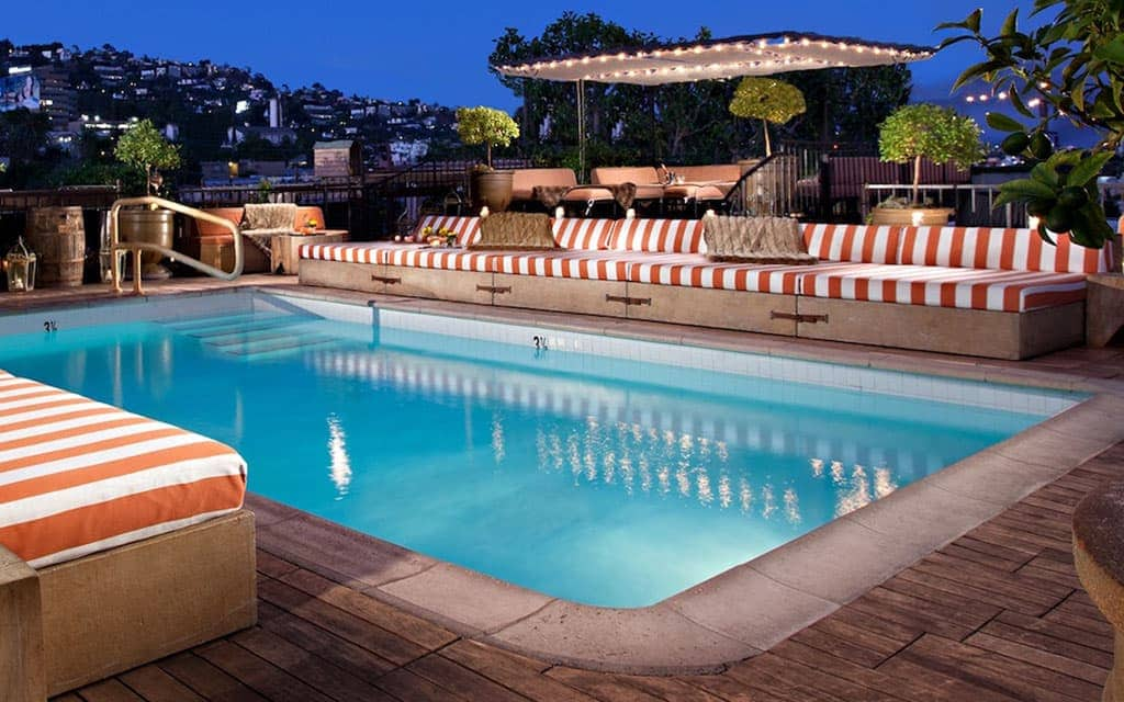 Romantic Los Angeles - The Petit Ermitage in West Hollywood
