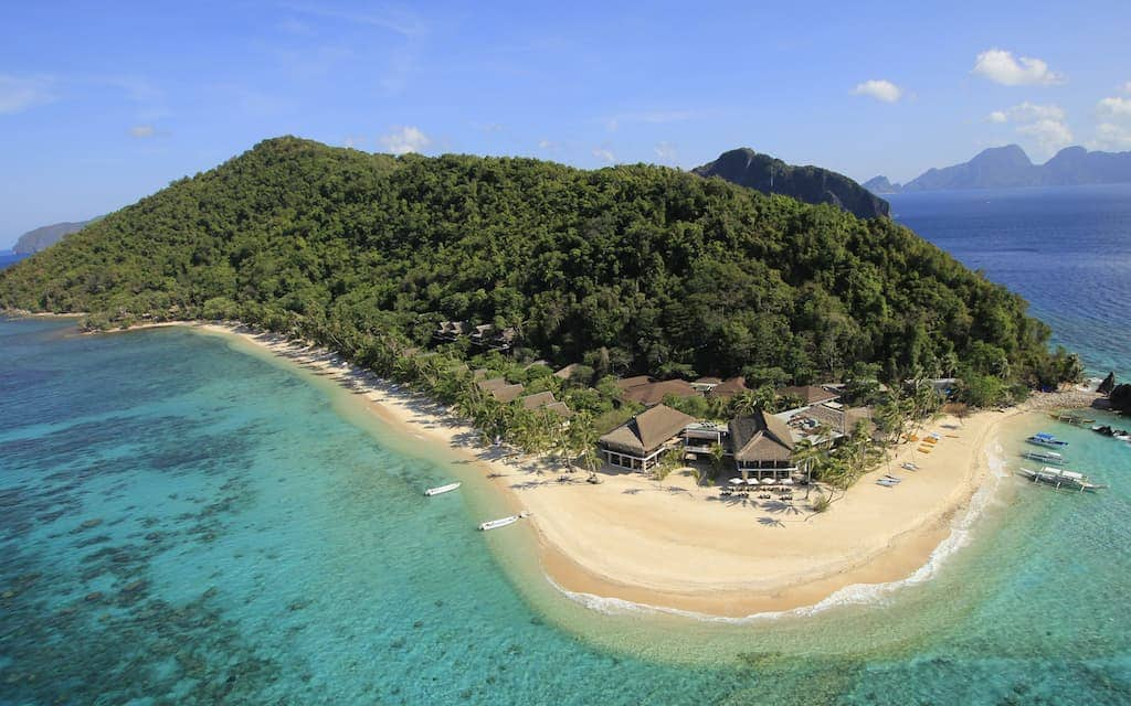 El Nido Resorts on Pangulasian Island one of the best hotels in the world