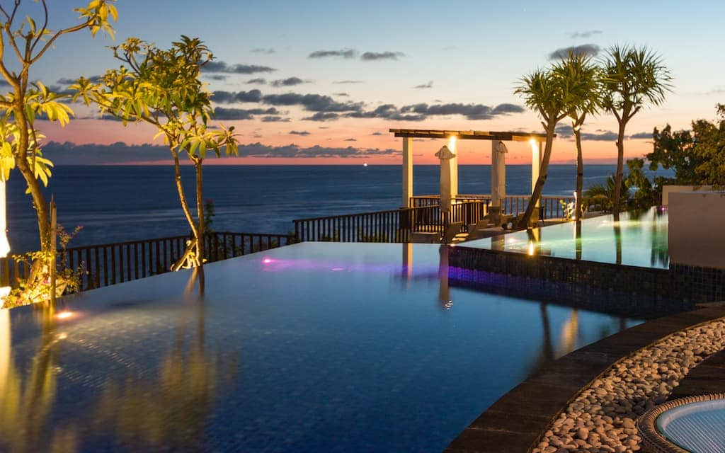 One of the best hotels in the world is SAMABE BALI SUITES & VILLAS in BALI, Indonesia