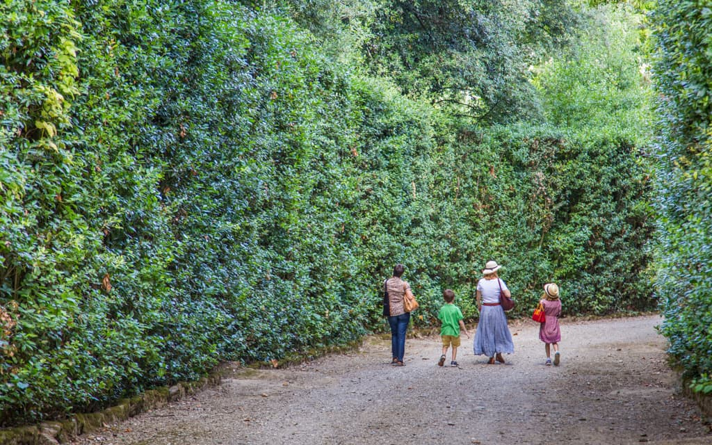 Kid-friendly Florence - Boboli Gardens is right in the middle of Florence, yet a world away