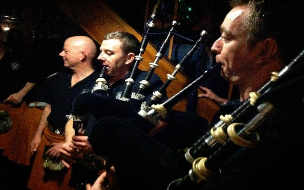 Bagpipes at Kevin Barry's Irish Pub