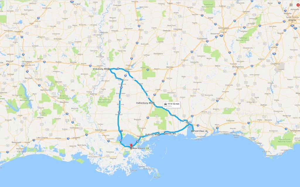 A Springtime Southern Road Trip Around Mississippi Louisiana And - Ms road map