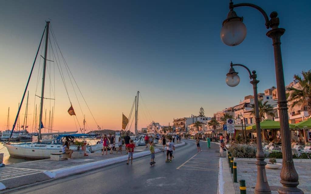 Kid-friendly Europe: Naxos Town at Sunset