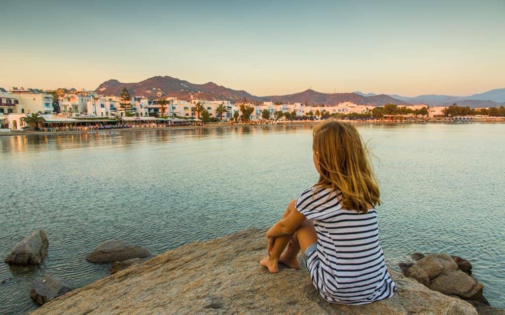 Kid-friendly Europe: Overlooking St. George Beach in Naxos