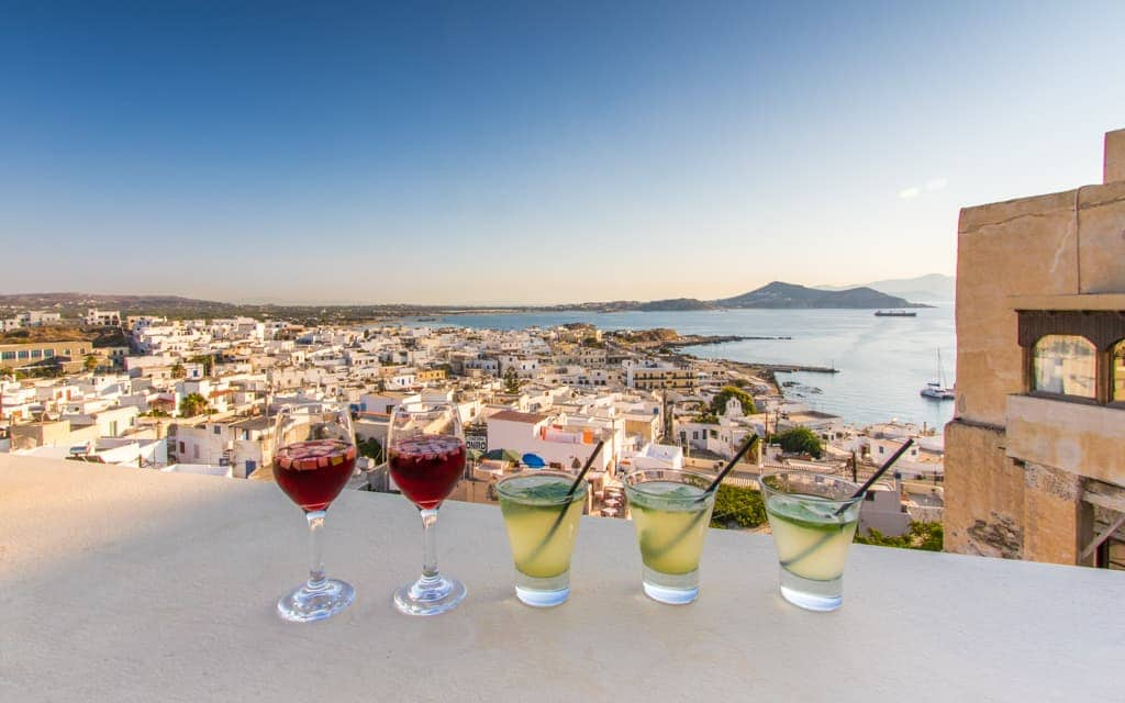 Kid-friendly Europe - Evening drinks at 1739 in Naxos