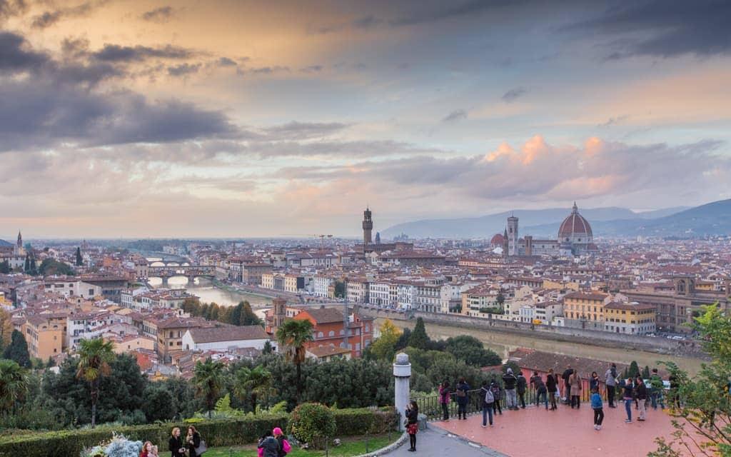 Kid-friendly Europe - Piazzale Michelangelo at sunset