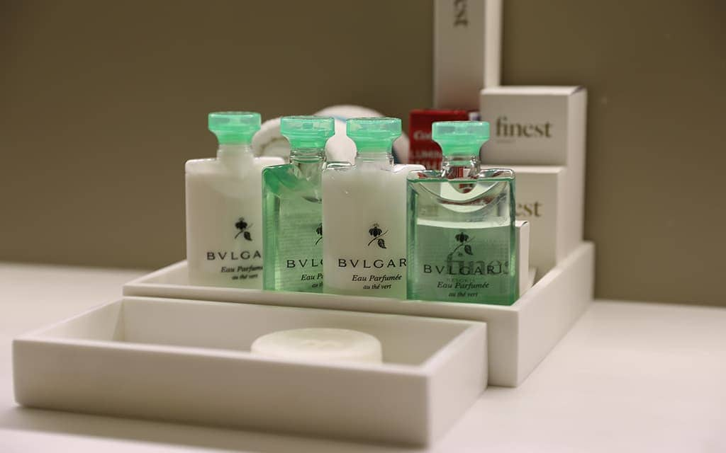 Bvlgari products in Suites