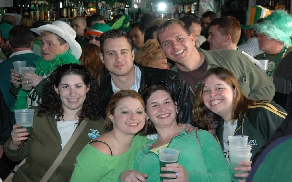 St. Patrick's Day revelers at McGillin's Olde Ale House in Philly