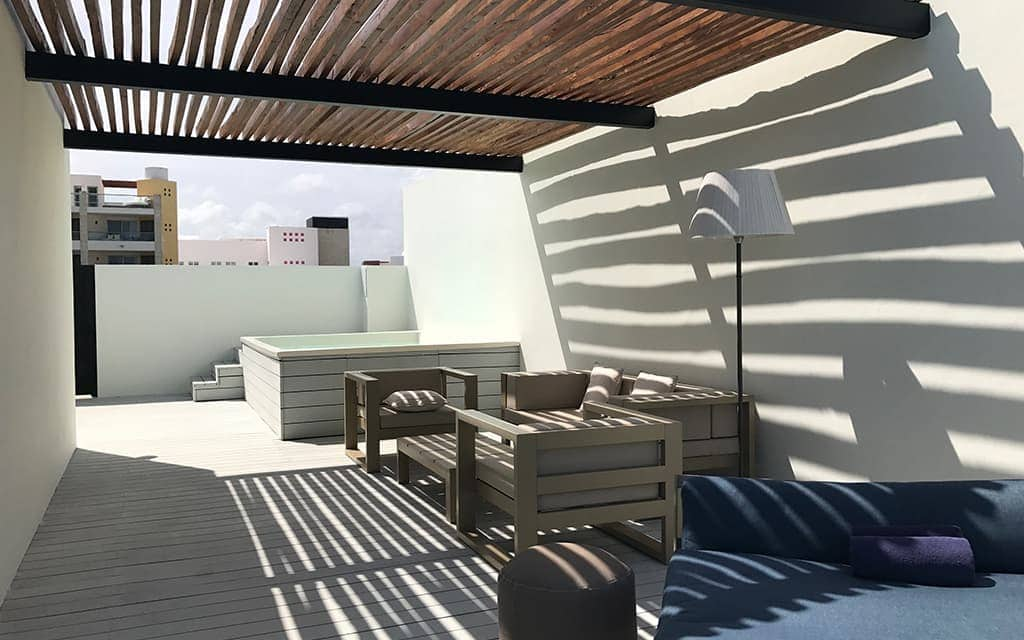Two Story Rooftop Terrace at Finest Resorts, Playa Mujeres
