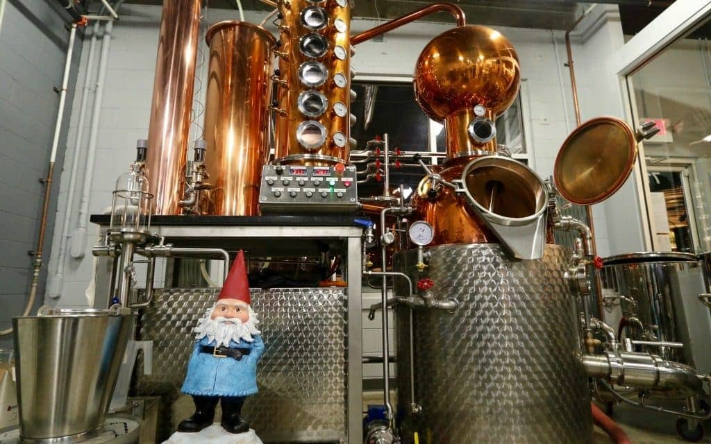 the Roaming Gnome visits a craft distillery