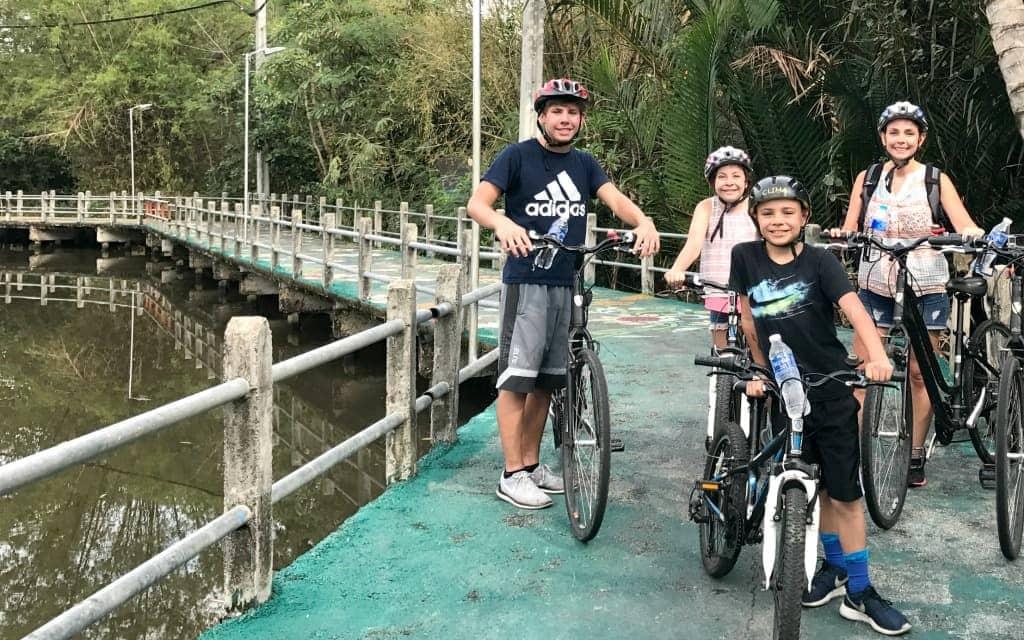 Take a bike tour through Bangkok and experience more of what Bangkok has to offer like the jungle.