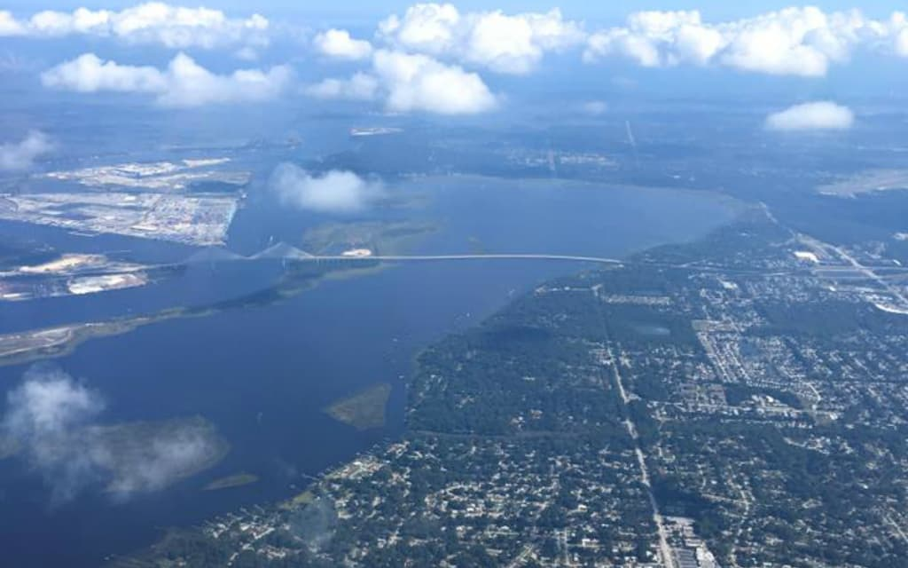 Jacksonville Florida Aerial Dames Point - where to stay in jacksonville
