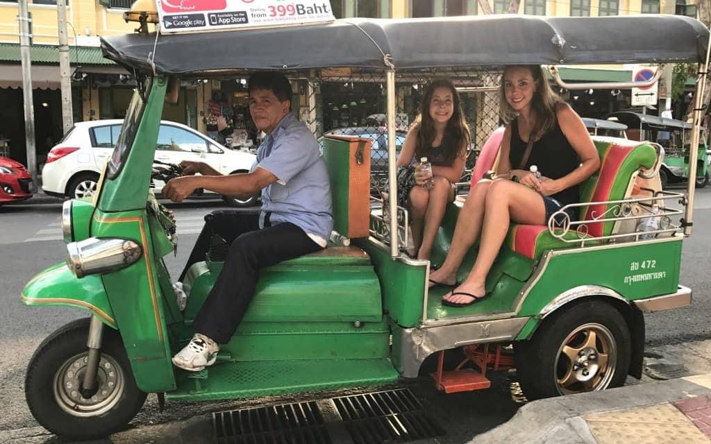 Touring Bangkok from a Tuk Tuk