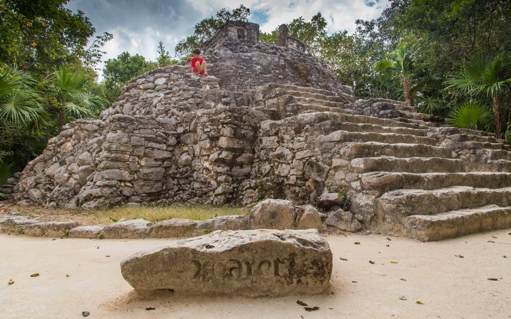 Riviera Maya with Kids - Climbing at Xcaret Park