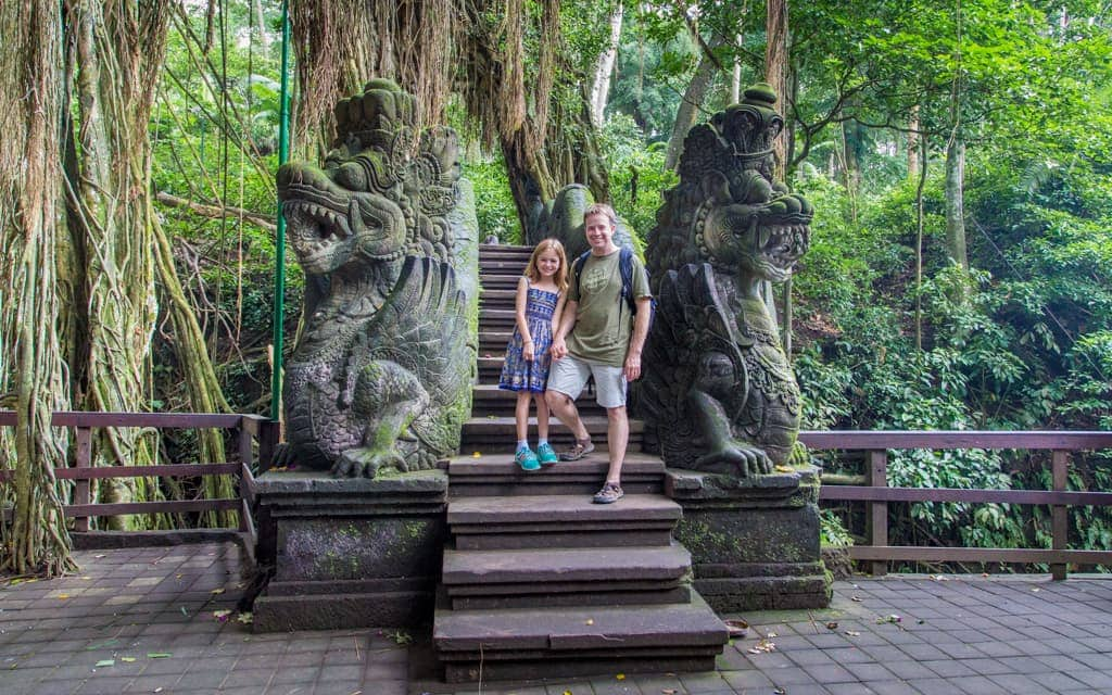 Travel with Kids: In Bali's Monkey Forest (9 years old)