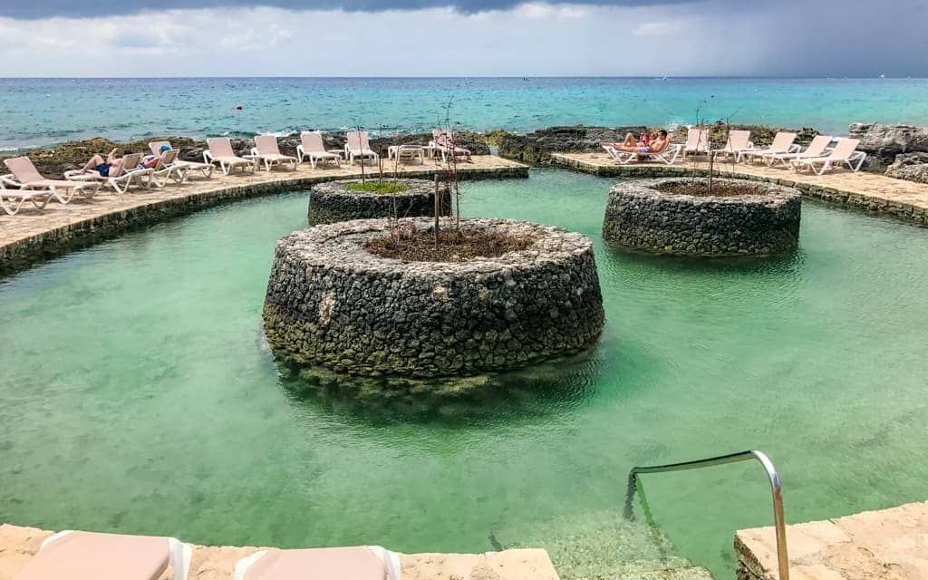 Riviera Maya with Kids - The saltwater pool at Occidental at Xcaret Destination