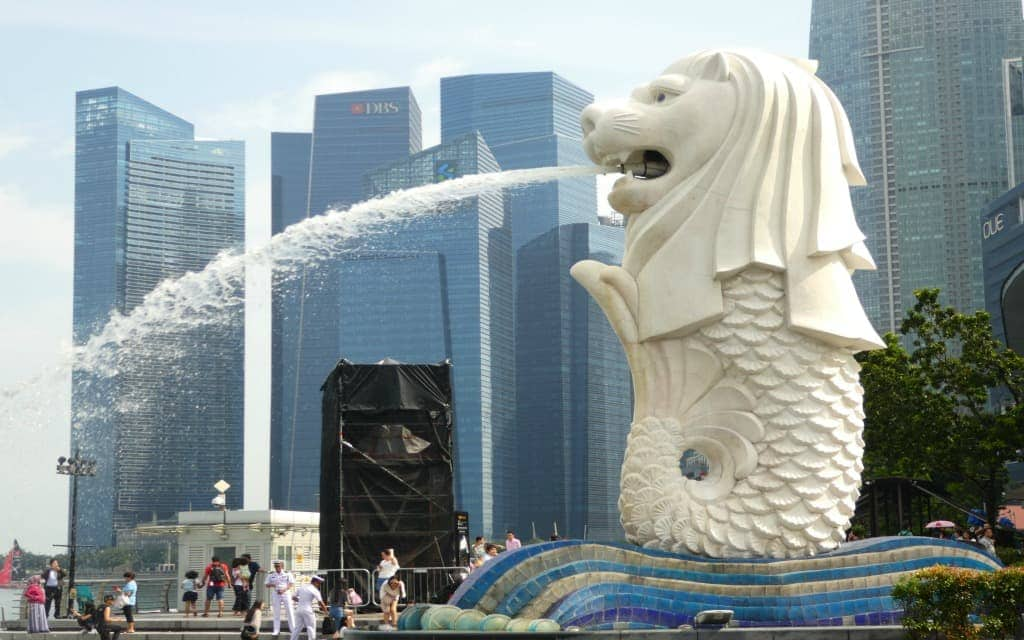 The Merlion at Marina Bay in Singapore