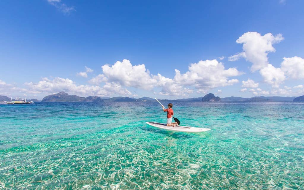 Travel with Kids: Paddle Boarding in Palawan