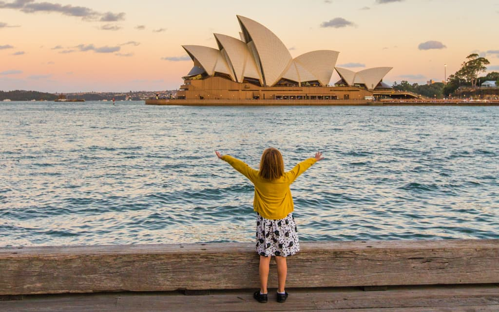 Travel with kids: My youngest in Sydney (6 years old)