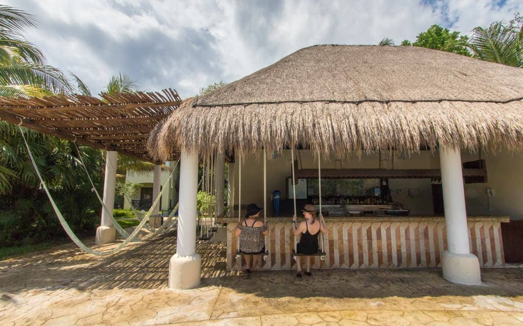 Riviera Maya with Kids - The bar swings at the main pool