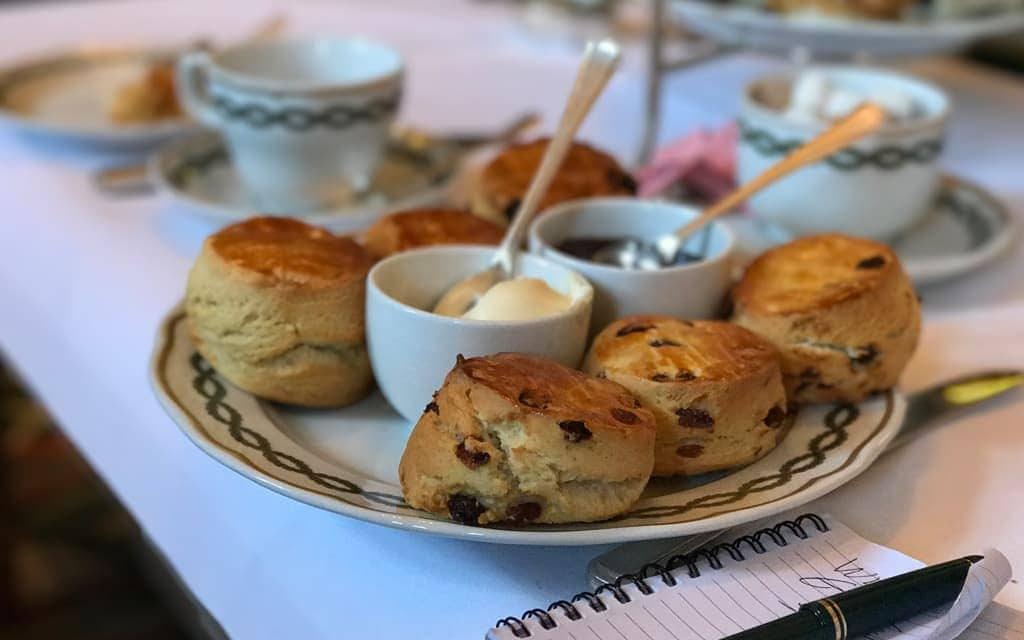 Warm scones to finish off afternoon tea at the Milestone