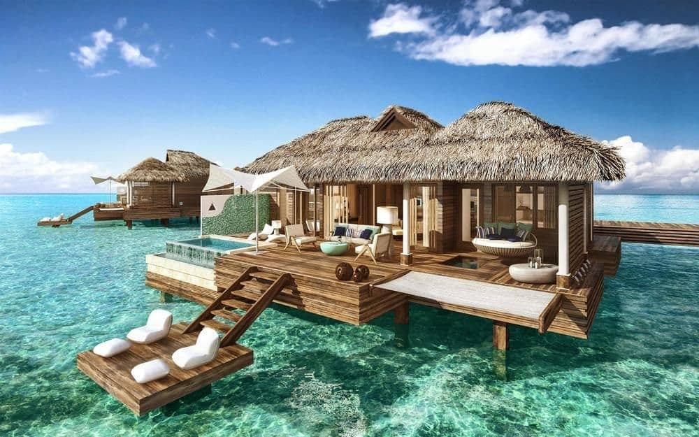 Overwater Bungalows - Sandals Royal Caribbean
