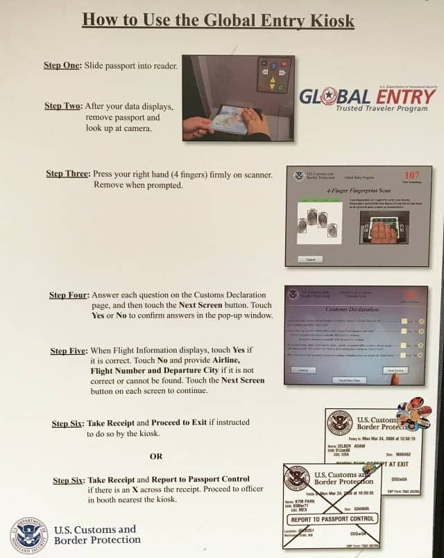 How to use Global Entry kiosks
