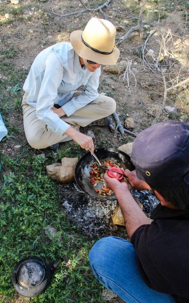 Jordanian outdoor cooking