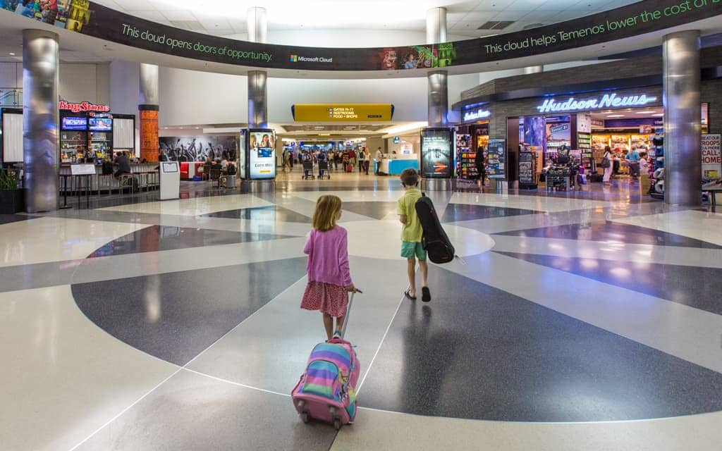 Airport tips: One carry-on per kid, maximum!