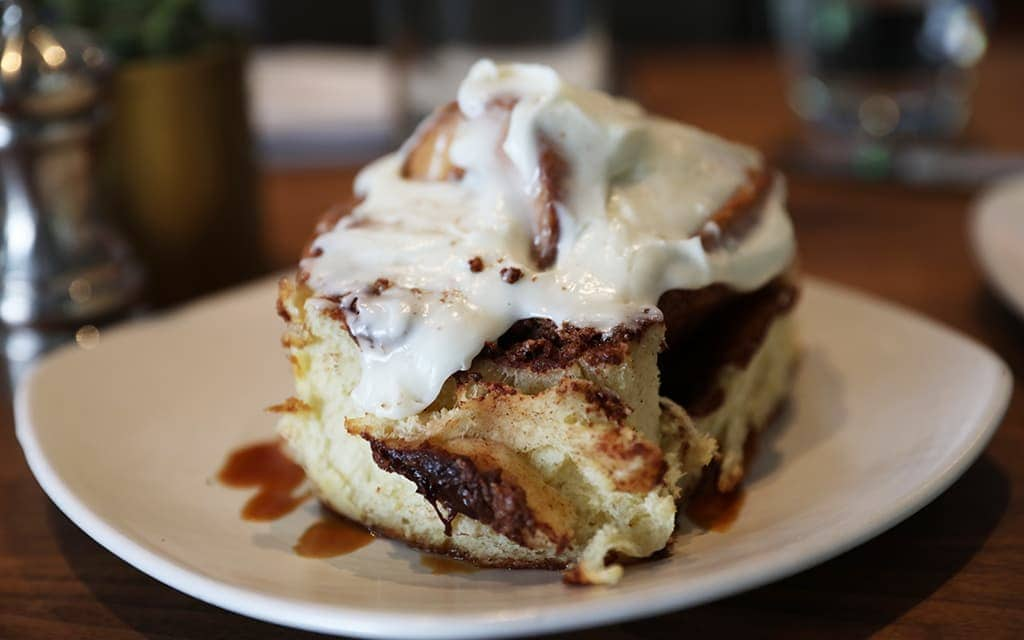 Bluestem Brasserie's famous cinnamon bun