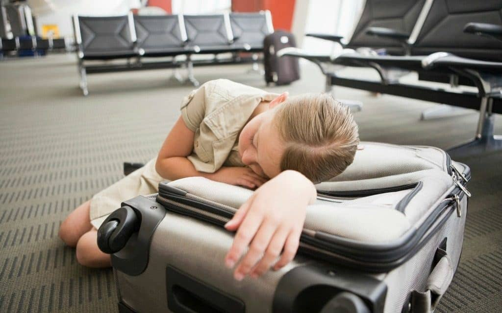 airport layover solutions for kids - sleeping at the airport