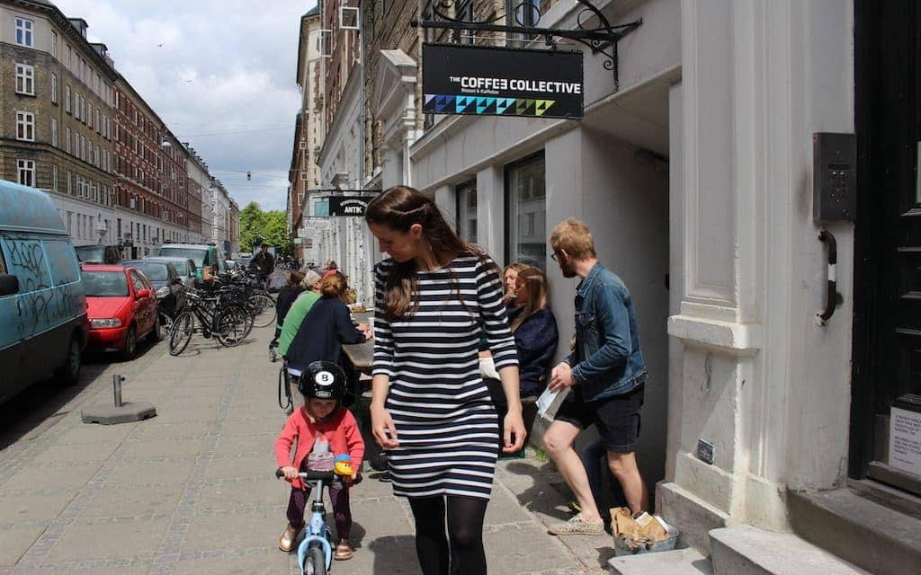 kid-friendly Copenhagen, mother and child on bike