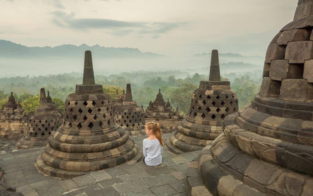 Travel inspiration: At Indonesia's Borobudur Temple near Yogyakarta