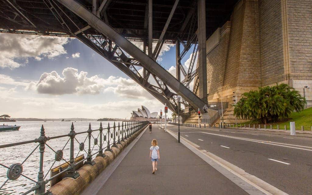 Travel inspiration: Passing under Sydney's Harbour Bridge, heading to the Opera House