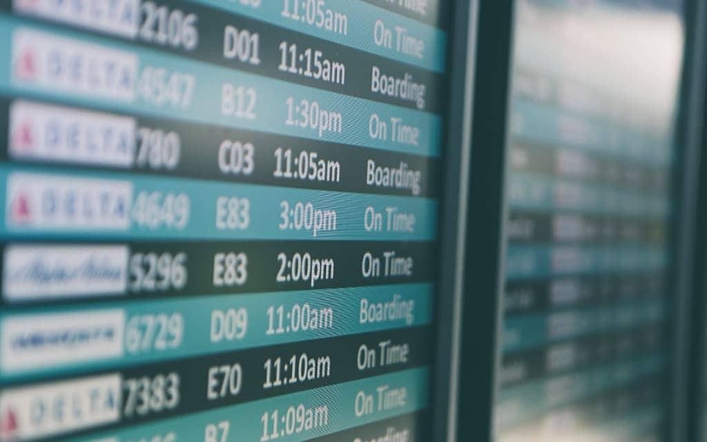 Connecting flights at airport