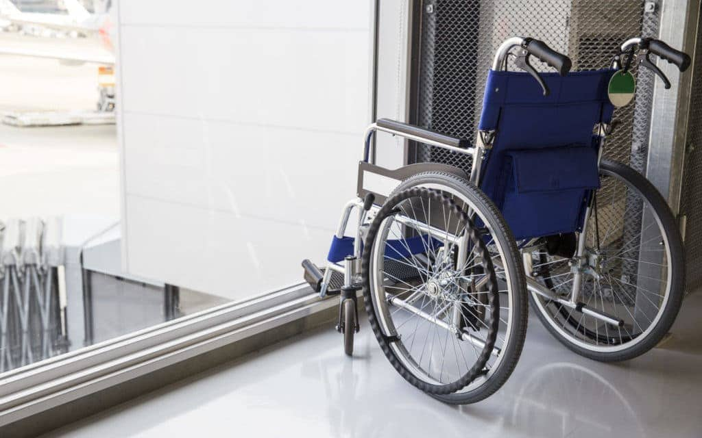 Wheelchair at the airport