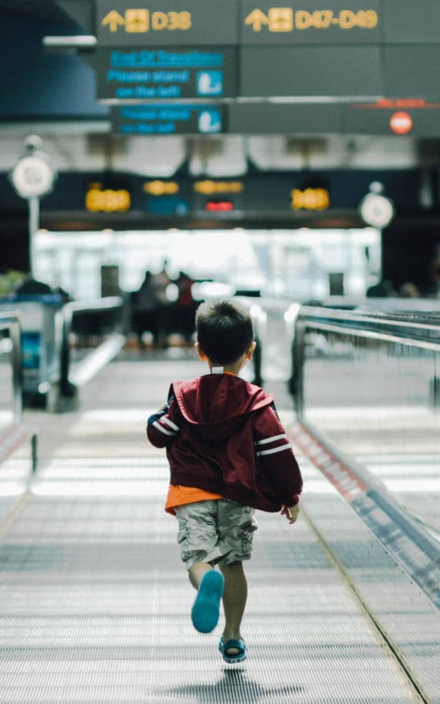 Running in the airport