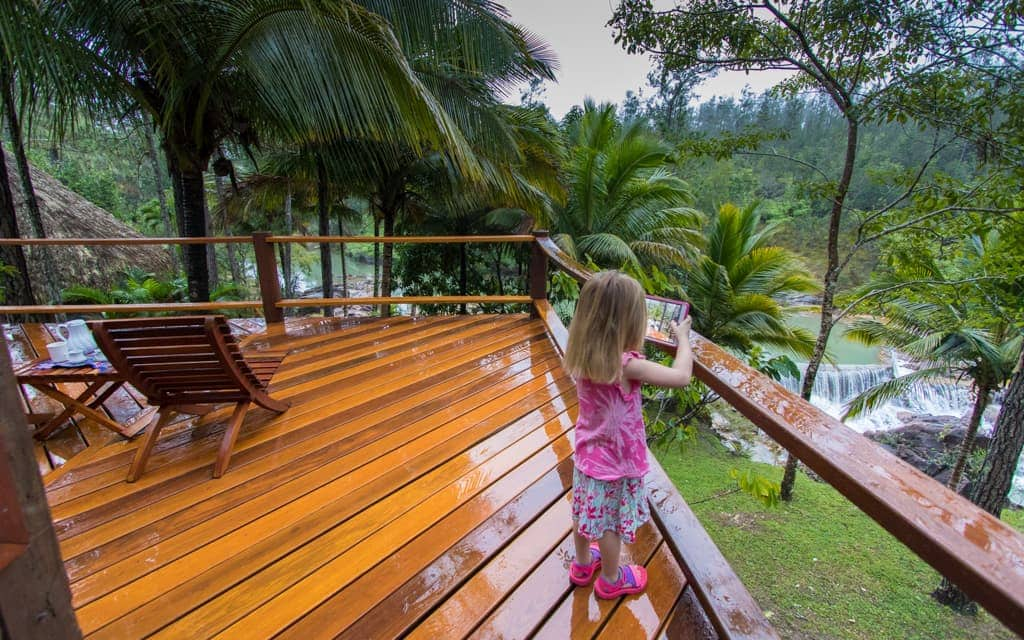 Best hotel views: We checked in to Blancaneaux Lodge late at night and could hear flowing water, but had no idea how amazing the tree-top view was until the next morning