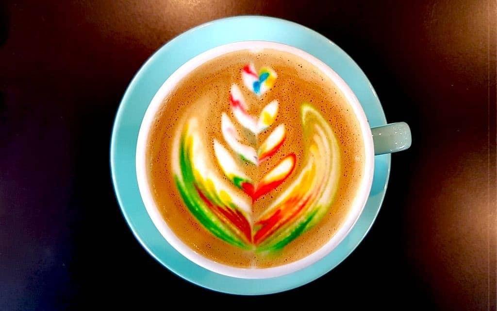 Prettiest food Australia - Rainbow Latte
