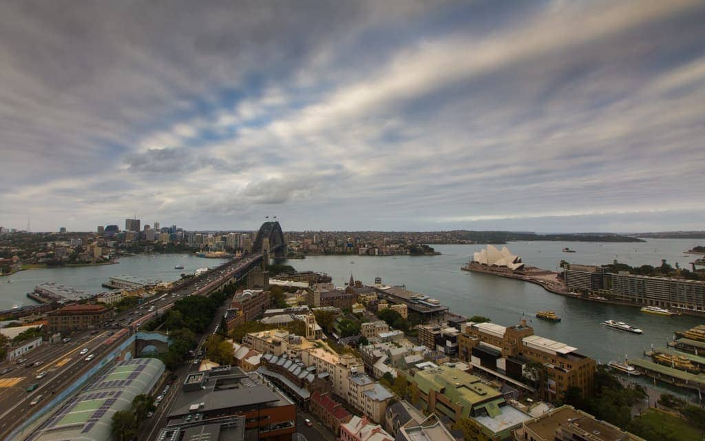 Best hotel views: I love looking out at Sydney's Harbour Bridge and Opera House. This is from our room at the Shangri-La Hotel Sydney.