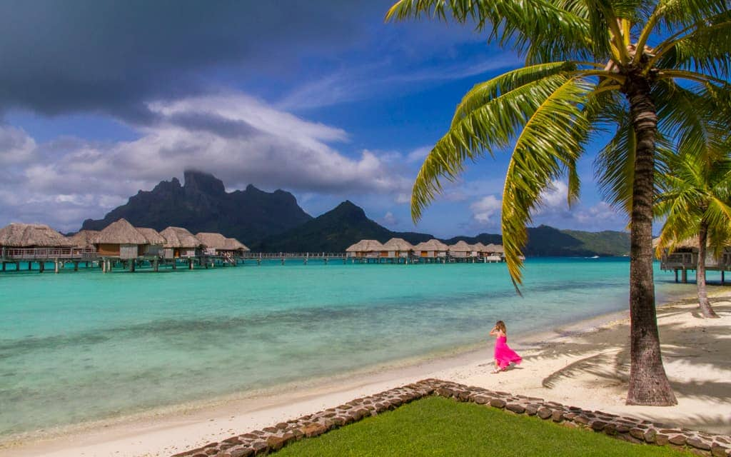 Best hotel views: The view is gorgeous from everywhere at Four Seasons Bora Bora, but it's worth paying a little extra for a view of Mount Otemanu.