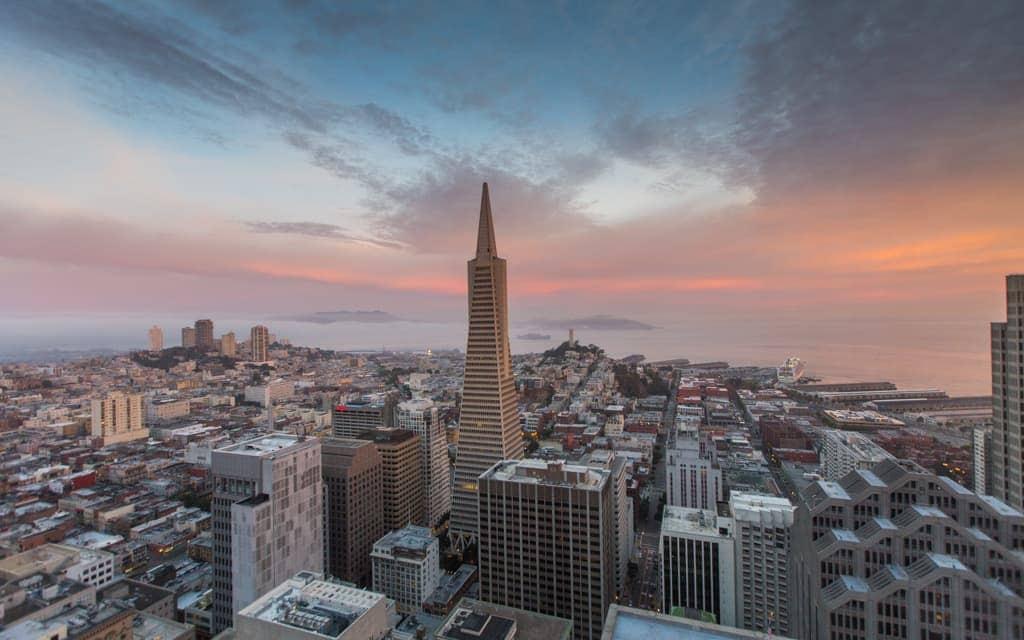 Best hotel views: Sunrise from the Loews Regency San Francisco