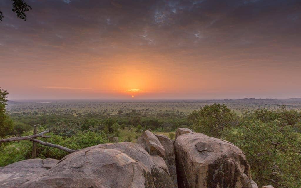 Best Hotel Views: Sunrise from the Serengeti Pioneer Camp