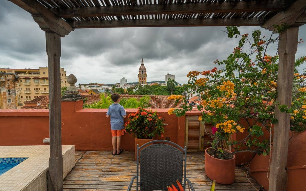 Best hotel views: We loved the view from the rooftop pool at Cartagena's Casa Pestagua, right in the middle of the old town